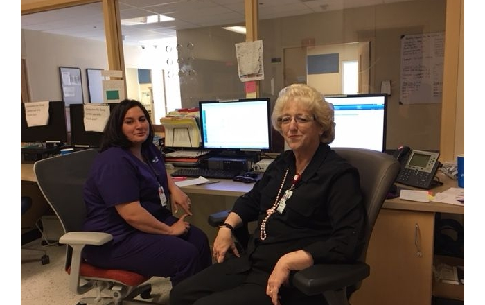 Karen Castanuela and Nancy Polnaszek of the SRMC Sleep Disorders Clinic.
