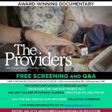 Award-winning Documentary 'The Providers' To Be Screened at UNM