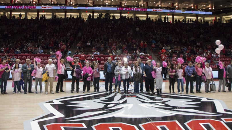 Lobos Love Pink Basketball