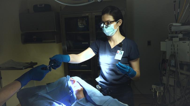 Naiara Barbosa, MD, FAAD, performs Mohs surgery