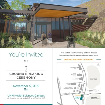 UNM Hospital Breaks Ground Tuesday for Nene and Jamie Koch Movement Disorders Center