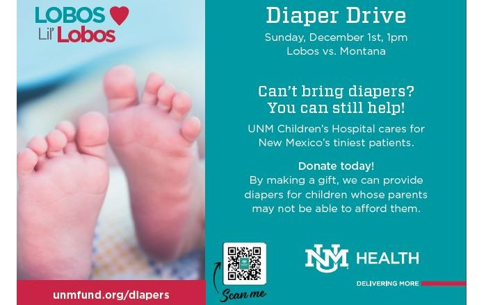 Diaper Drive Dec. 1st at the Pit