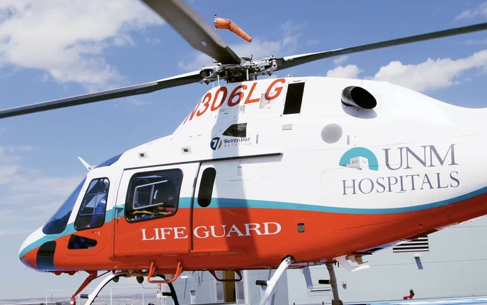 UNM Hospitals Lifeguard Helicopter