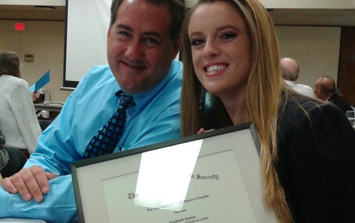 Dr. Mark Burge and Elisabeth Burton at Awards Ceremony