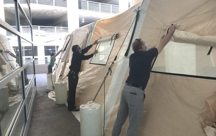 RCC Tent at UNM Hospital