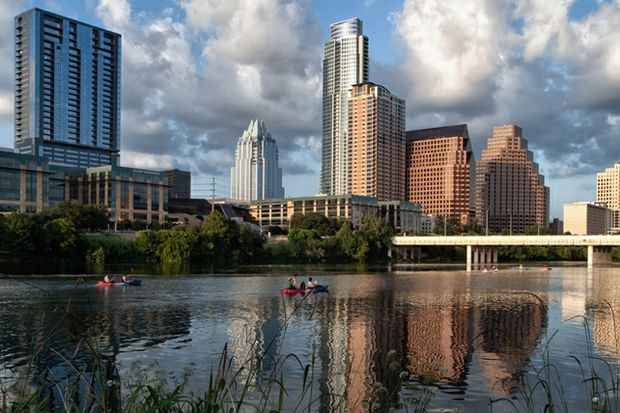 Austin skyline by Anne Worner