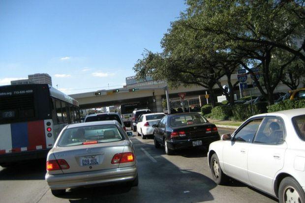 Houston traffic by Michael Cote
