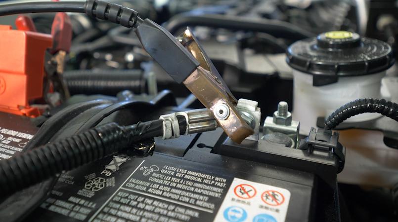 battery under hood