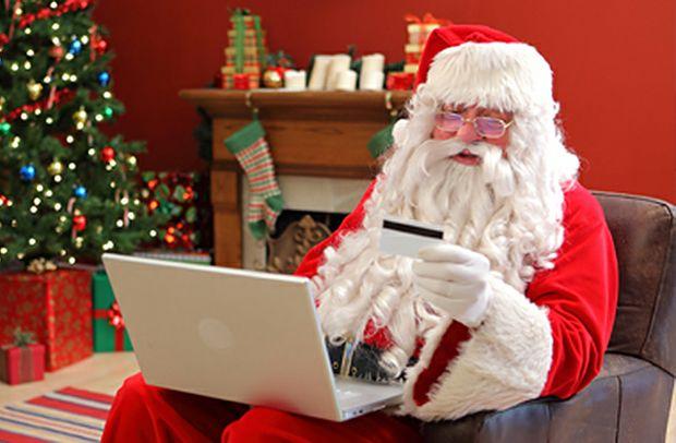 Santa shops online