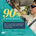 90 Percent of Senior Drivers Don't Make Vehicle Adjustments That Can Improve Safety