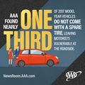 Spare Me! AAA Finds Nearly One-Third of New Vehicles are Missing a Spare Tire