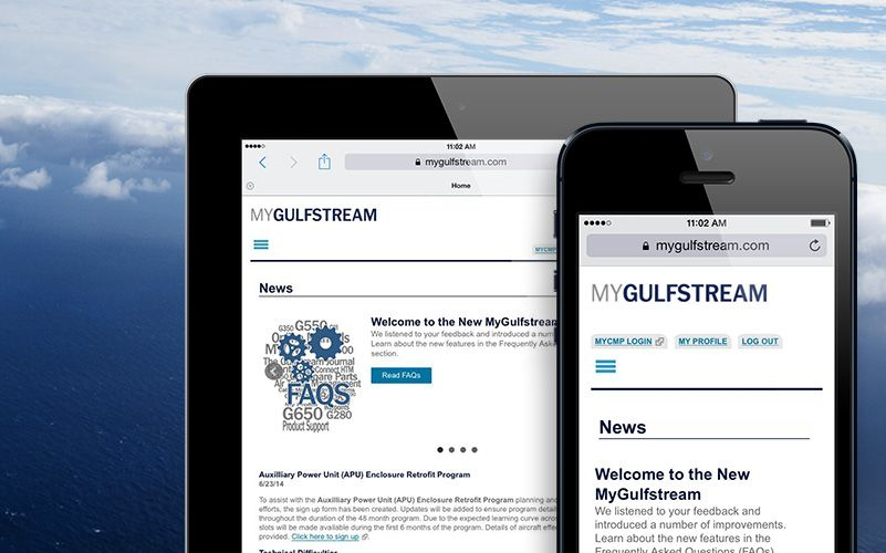 MyGulfstream.com and MyGulfstream app