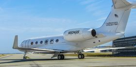 что четвертый испытательный самолет Gulfstream G500, T4, совершил свой первый полет