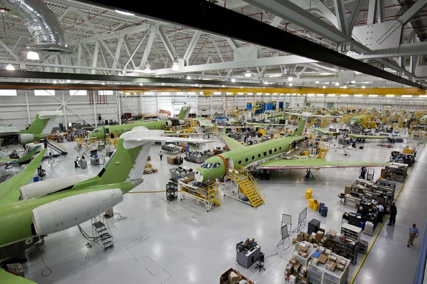 湾流第100架G650飞机出厂