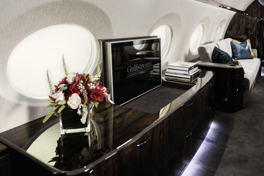 湾流揭晓升级后的G600客舱实物模型