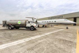 湾流G450和G550使用可再生燃料飞赴EBACE参展_G550