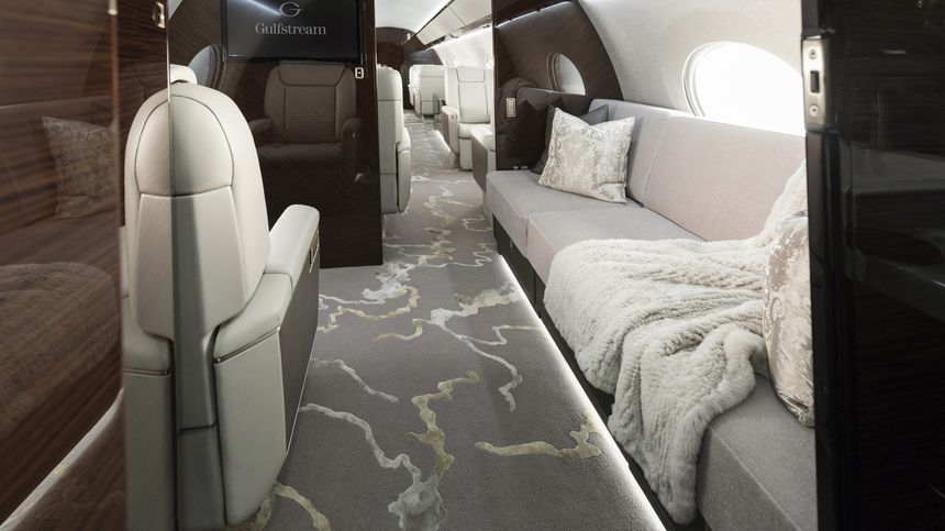 The Gulfstream G650ER Serenity and Style State Room
