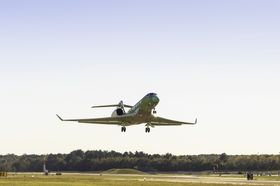 T3 on its first flight