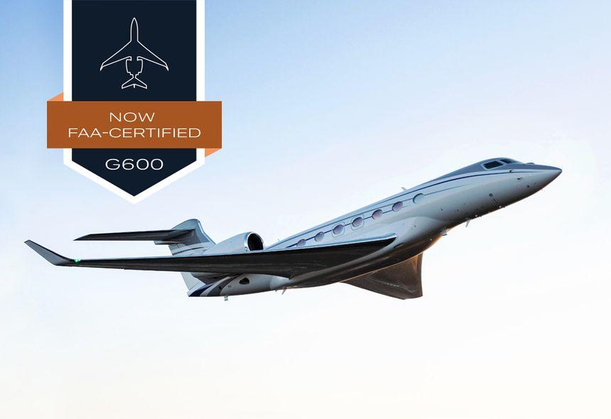 EL GULFSTREAM G600 RECIBE LA CERTIFICACIÓN DE TIPO DE LA ADMINISTRACIÓN FEDERAL DE AVIACIÓN (FAA)
