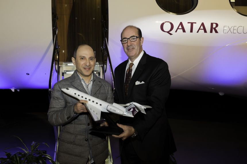 GULFSTREAM ENTREGA O G650ER À QATAR AIRWAYS