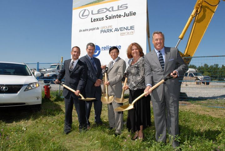 Lexus Sainte-Julie Groundbreaking