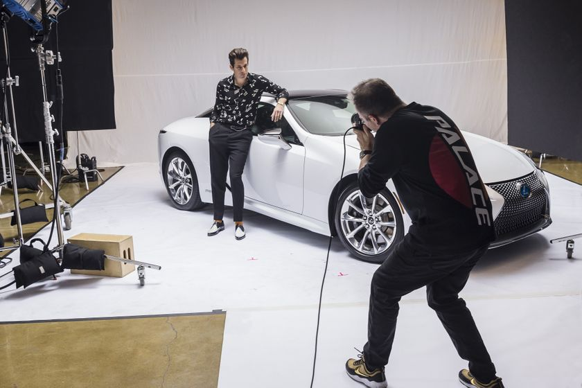 Lexus x Mark Ronson Announcement BTS 9