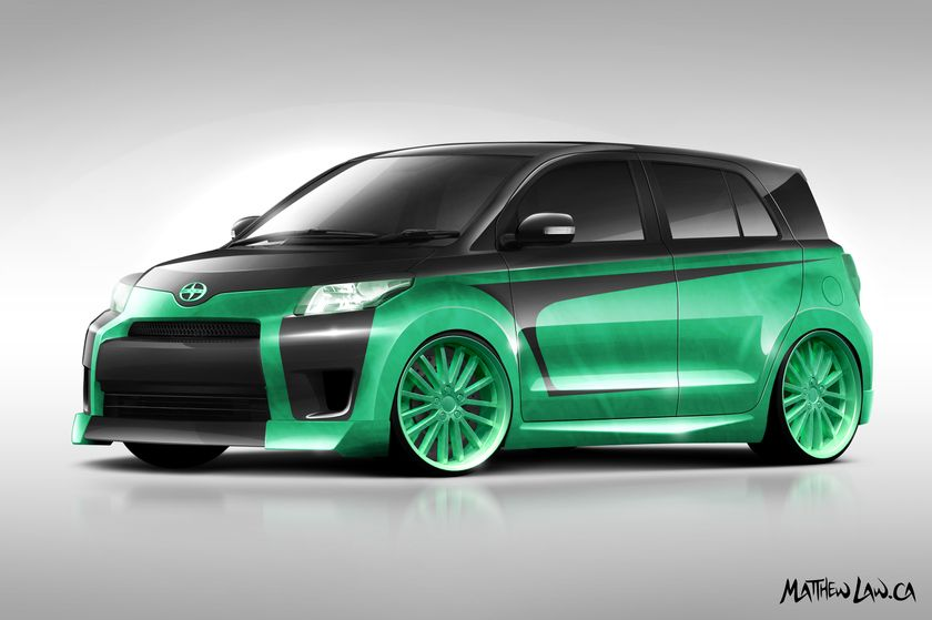 Team Camo Customs - 2011 Scion xD design