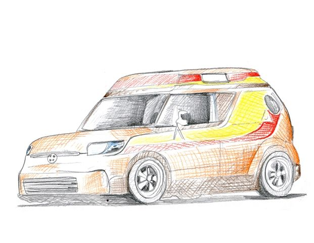 2014 Scion AV Riley Hawk Sketch