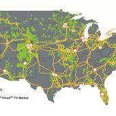 CenturyLink National Network Map