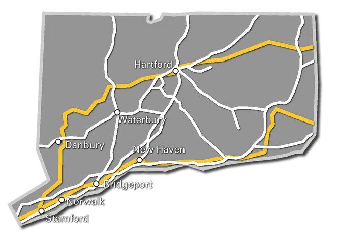 Connecticut Service Map Current