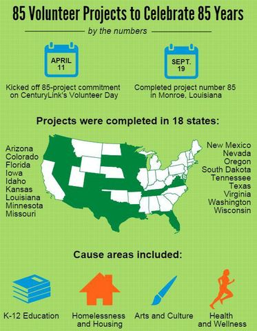 85 Project Infographic