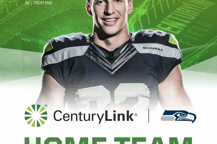 Luke Willson, tight end for the Seattle Seahawks