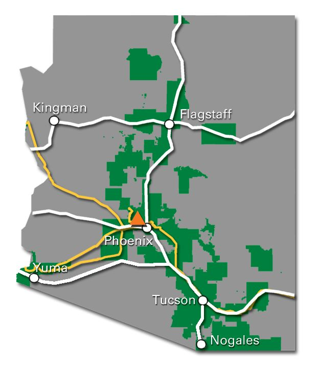 Arizona Service Map 2017