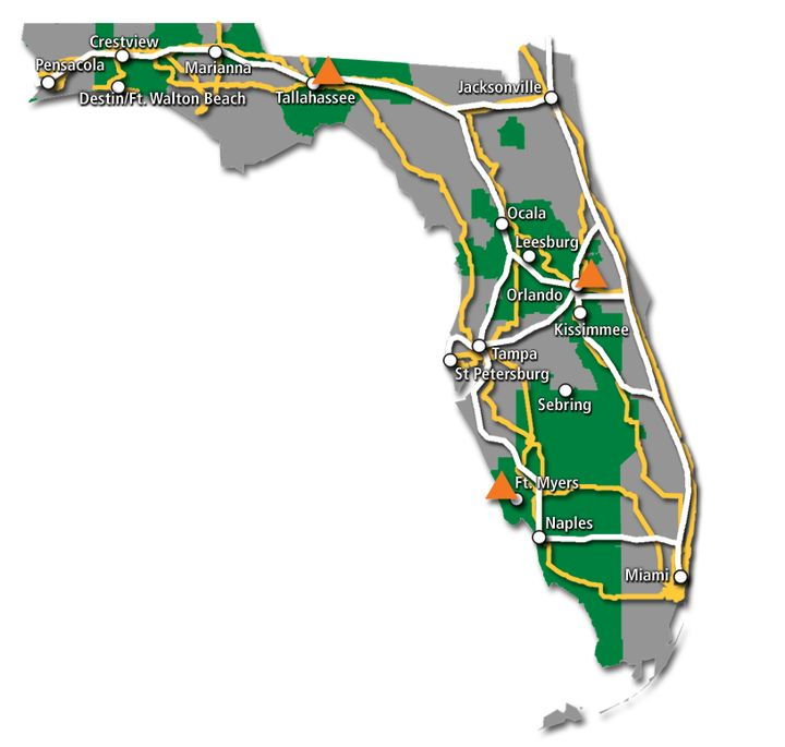 Florida Service Map 2017