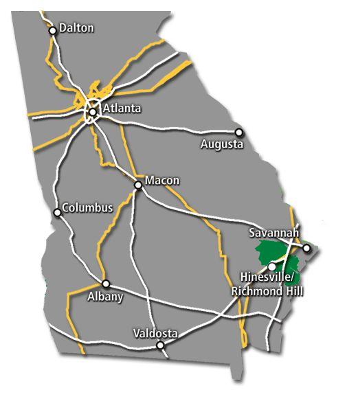 Georgia Service Map 2017