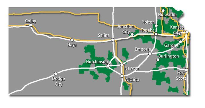 Kansas Service Map 2017