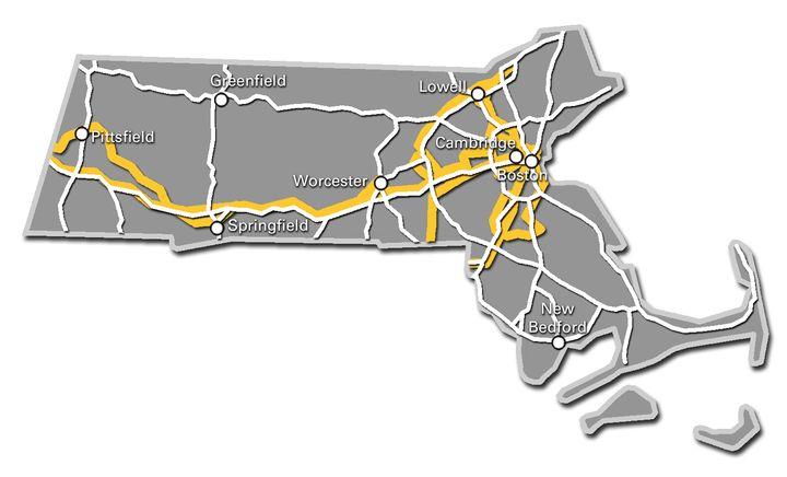 Massachusetts Service Map 2017
