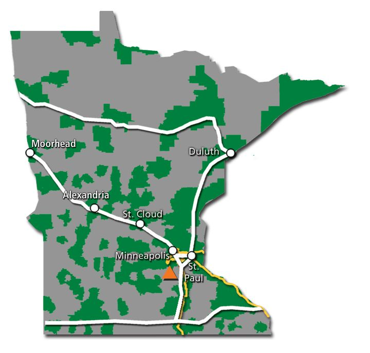 Minnesota Service Map 2017