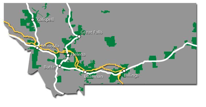 Montana Service Map 2017
