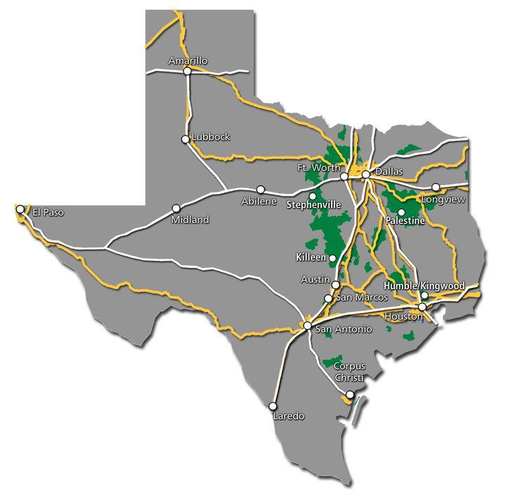 Texas Service Map 2017