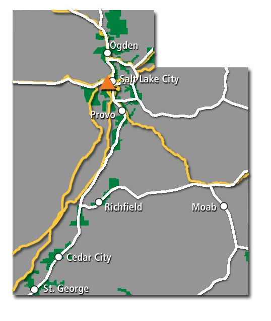 Utah Service Map 2017