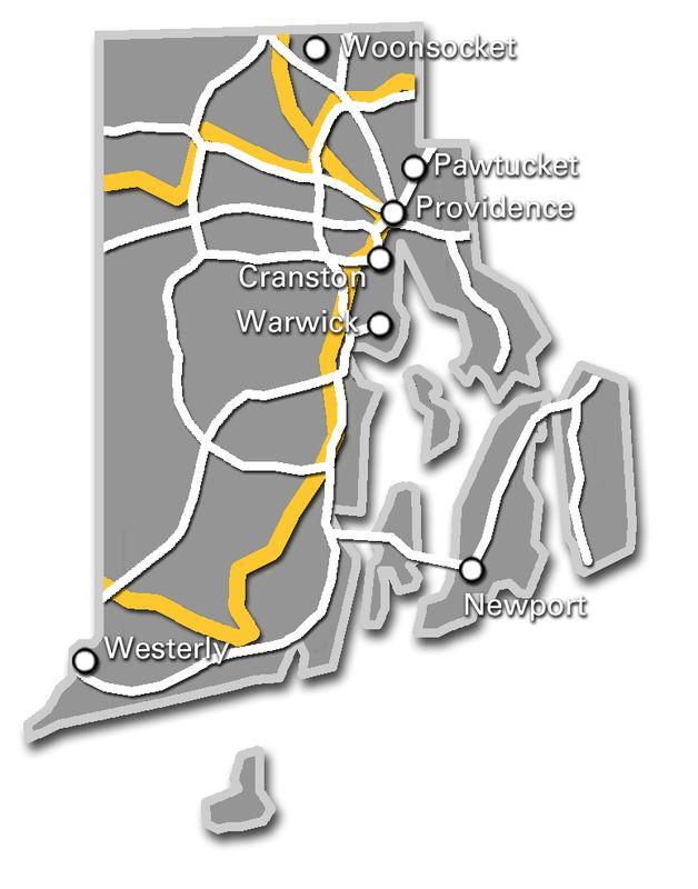Rhode Island Service Map 2017