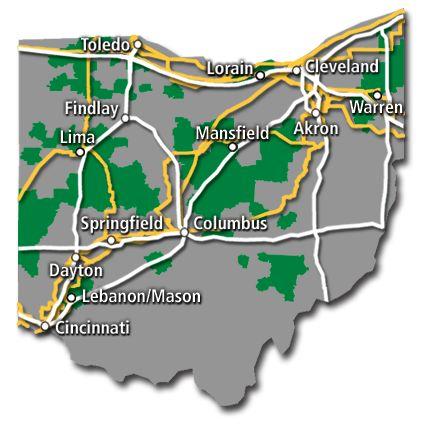 Ohio Service Map 2017