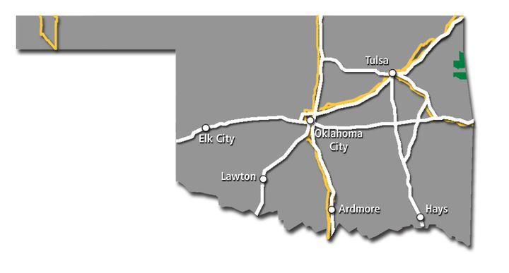 Oklahoma Service Map 2017