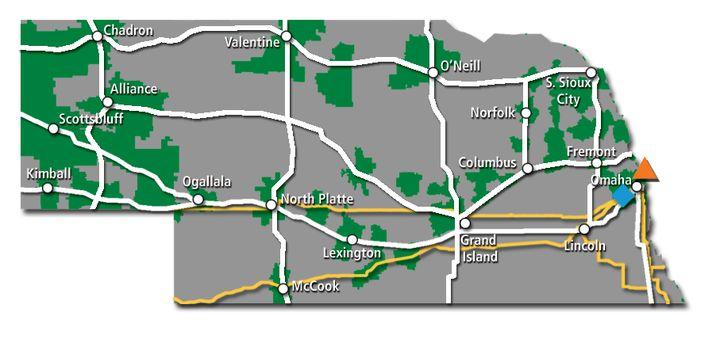 Nebraska Service Map 2017