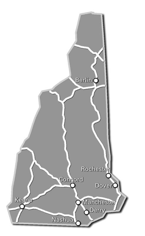 New Hampshire Service Map 2017