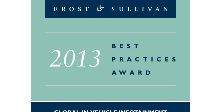 2013 Award for Global Industry Leadership for In-Vehicle Infotainment