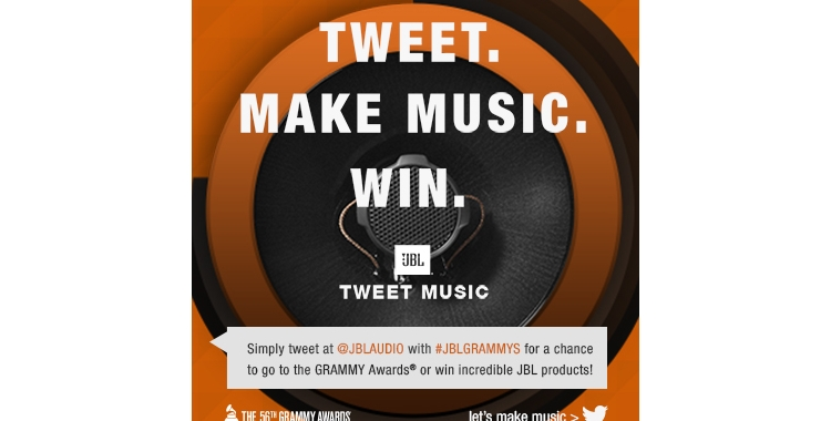 JBL Launches GRAMMY® Season with JBL Tweet Music; Technology 'Scores' User's Tweets