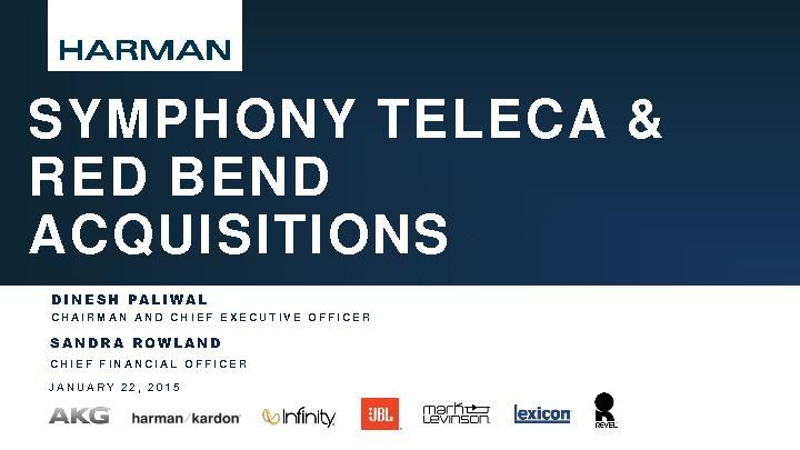 Symphony Teleca and Red Bend Acquisitions