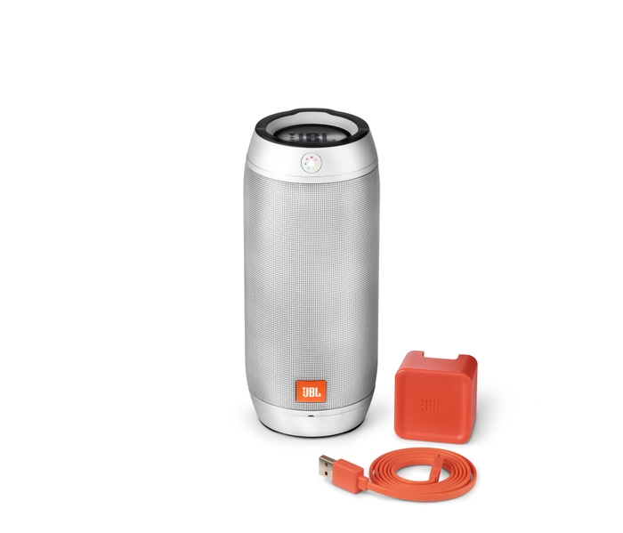 JBL Pulse 2 Silver with Accessories